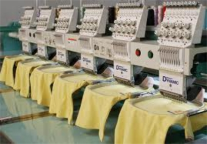 shirts on embroidery machine
